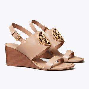 Tory Burch Women's Miller Metal 65mm Wedge Sandals